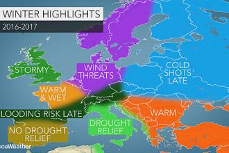 Prognoza AccuWeather pentru iarna 2016-2017: temperaturi peste medie, cu valuri scurte de frig. Cum va fi vremea in Romania