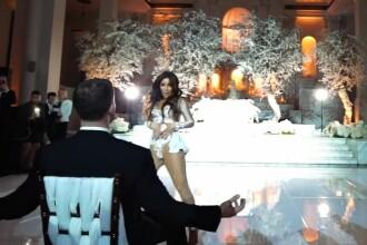 Invitatii au crezut ca nu vad bine. Momentul de neuitat pe care l-a creat mireasa la nunta ei. VIDEO