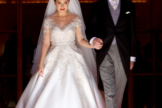 Prima nunta regala din ultimii 70 de ani, in Albania. O cunoscuta actrita s-a casatorit cu Printul Mostenitor Leka II. FOTO