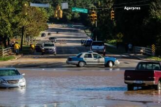 Uraganul Matthew a smuls copaci din pamant, a daramat stalpi de electricitate si a provocat inundatii grave: 15 morti in SUA