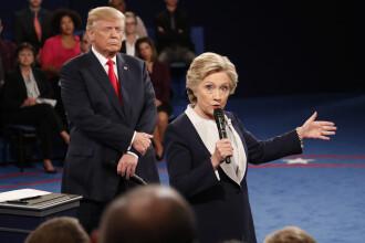 Hillary Clinton a castigat a doua dezbatere din cursa pentru Casa Alba