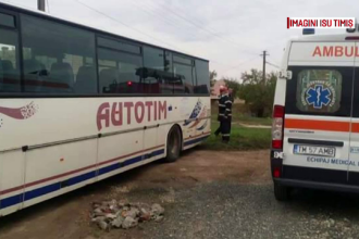 Barbat de 57 de ani, mort strivit de autobuzul pe care il repara. A fost nevoie de interventia unui echipaj de descarcerare
