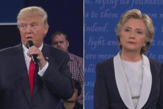 Reactii dupa a doua dezbatere dintre Clinton si Trump. Ce a spus un expert in limbajul trupului despre cei doi