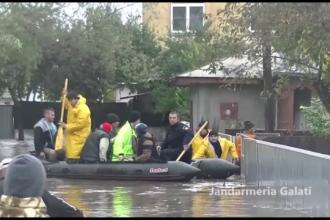 Inundatii in Galati: Patru localitati acoperite de ape si sute de oameni evacuati. PLAN ROSU de actiune activat de autoritati