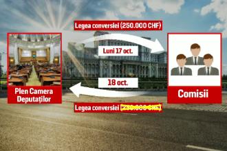 Plafonul de 250.000 de franci elvetieni ar putea fi eliminat din legea conversiei. Actul normativ, votat saptamana viitoare