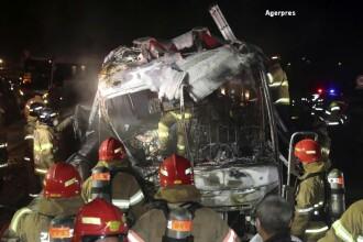 10 morti si 7 raniti intr-un accident de autocar produs in Coreea de Sud. Trei persoane sunt in stare grava