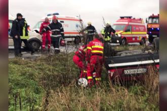 Doi batrani si-au pierdut viata dupa ce masina in care se aflau a fost izbita de o furgoneta