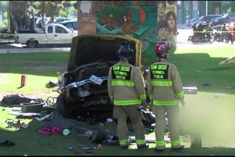 Patru morti si noua raniti intr-un accident, in California. O masina a plonjat in mijlocul spectatorilor de la un concert