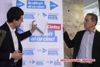 USR il sustine oficial pe Dacian Ciolos pentru sefia Guvernului, dupa alegeri. Ce slogan are Nicusor Dan