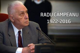 Trupul lui Radu Campeanu va fi depus sambata in foaierul Senatului. Mesajele transmise de fosti aliati si adversari politici