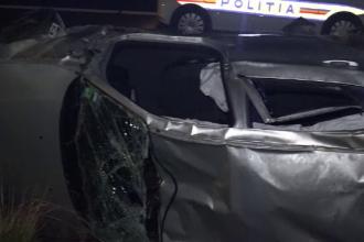 Accident grav pe A1, produs de un tanar de 18 ani care conducea cu 160km/ora. Fata cu care se afla in masina a murit pe loc