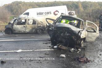 Tragedie pe DN5, intre Uzunu si Adunatii Copaceni. Motivul pentru care patru oameni au ars de vii in masini