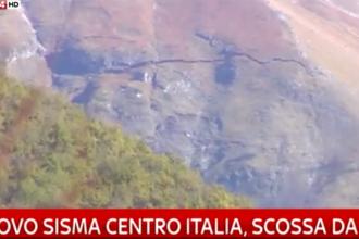 Italia, lovita de cel mai puternic cutremur din ultimii 36 de ani. O crapatura uriasa a aparut in munte, langa Ussita