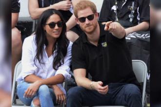 Prinţul Harry şi-a sărutat iubita în public. O televiziune britanică a obţinut dovada video