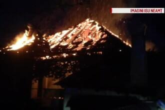 Incendiu uriaş la o gospodărie din Neamţ