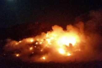 Incendiu puternic la groapa de gunoi a Braşovului