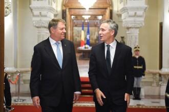 Iohannis, întrevedere cu secretarul general al NATO: Nu există intenția unei alternative europene pentru NATO