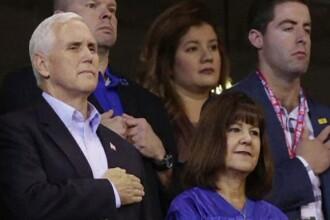 Vicepreședintele Mike Pence a plecat de la un meci, din cauza jucătorilor