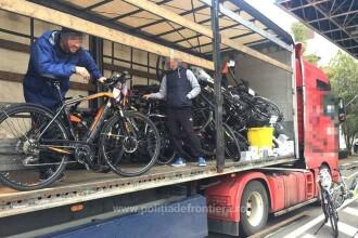 Zeci de biciclete electrice furate din Germania, de peste 900.000 lei, găsite în Vama Nădlac