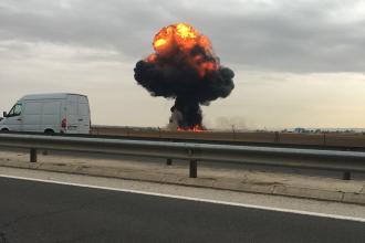 Un avion militar F-18 s-a prăbuşit lângă Madrid iar pilotul a murit