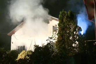 Incendiu la o fostă casă de copii din Ilfov provocat de o lumânare. Clădirile din jur, amenințate