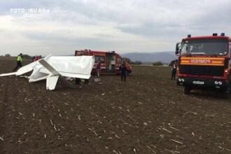 Un avion de mici dimensiuni a aterizat forțat, în Alba. Pilotul rănit este un om de afaceri