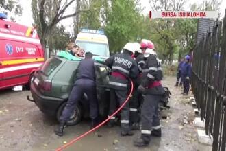 Accident între Slobozia și Amara, din cauza unui șofer beat