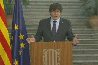 """Puigdemont cheamă la opoziție față de articolul 155: """"Guvernul spaniol a luat decizii contrare voinţei catalanilor"""""""