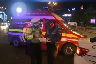 Accident în București. Un cuplu a fost lovit de un taxi pe o trecere de pietoni