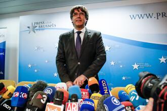 """Puigdemont susține că a venit în Belgia ca să acţioneze """"în libertate şi siguranţă"""". Premier: Nu a fost invitat de Guvern"""