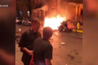 Trei bărbați, uciși în urma exploziei unei mașini. Anchetatorii cred că este vorba de o mână criminală