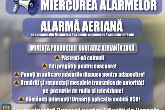 Nou exerciţiu de verificare a sistemelor de avertizare-alarmare a populaţiei, miercuri