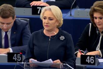 Dăncilă a luat apărarea Jandarmeriei Române în Parlamentul European: Nu pot accepta sub nicio formă