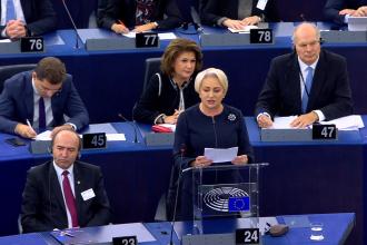 """Mesaj dur al premierului Dăncilă în Parlamentul European: """"Nu am venit să dau socoteală"""""""
