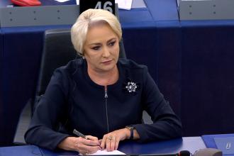 Viorica Dăncilă urmează să susțină un discurs în Parlamentul European