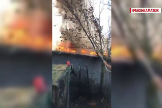 Incendiu într-o gospodărie din Galați. O bătrână a ajuns la spital