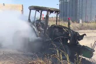 Un tractor și un autoturism, în care se afla un copil, s-au ciocnit pe o șosea din Arad