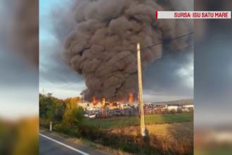 Incendiu puternic la un depozit, în Satu Mare. A fost afectată și o clădire de birouri