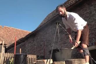 O veche tradiție a sașilor, reînviată într-un sat din Brașov. Turiștii au mâncat bunătățile gazdelor