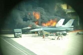 Două avioane de luptă, distruse după ce un mecanic a deschis accidental focul