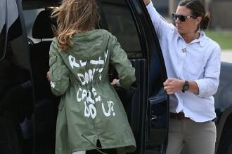 """Melania Trump explică de ce a purtat o jachetă pe care scria """"nu-mi pasă"""""""