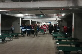 """Exercițiul """"Seism 2018"""". Tabără de sinistrați pe Arena Națională cu 10.000 de paturi de campanie"""
