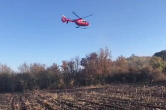 Un bărbat a suferit arsuri pe 80% din suprafața corpului într-un incendiu de vegetație
