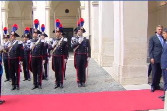 Klaus Iohannis, eroare de protocol în Italia, în timpul unei ceremonii cu premierul Conte