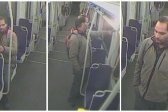 Momentul în care un timișorean vandalizează un tramvai aflat în mers. VIDEO