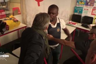 Bătaie în sediul unui partid din Franța. Polițist pus la pământ de furia unui politician