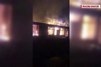 Un magazin din Brăila, distrus de un incendiu în mijlocul nopții