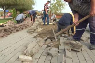 O alee din Târgu Jiu, stricată și reparată în fiecare an. Care este explicația autorităților