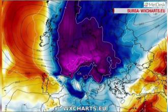România, lovită de un val de aer polar. Ninsori în jumătate de țară