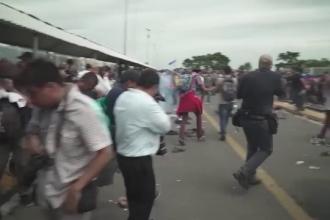 Ciocniri între migranți și polițiștii mexicani. Autoritățile au folosit gaze lacrimogene